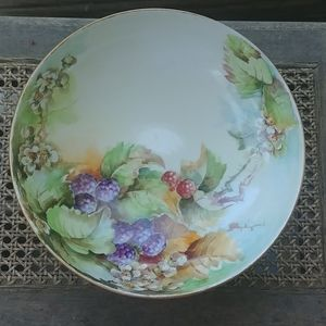 Jean Pouyat h.p. round footed console bowl